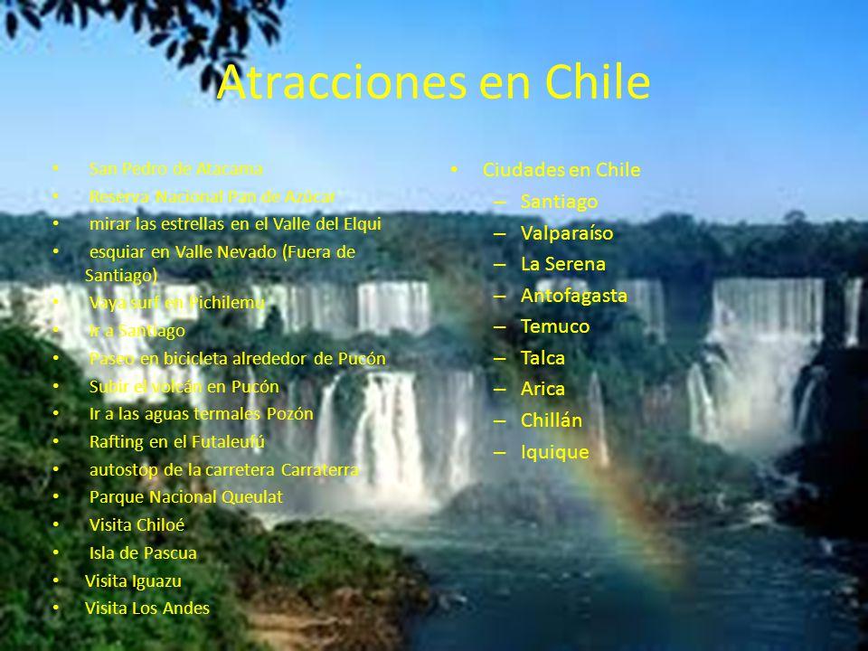 Atracciones en Chile Ciudades en Chile Santiago Valparaíso La Serena