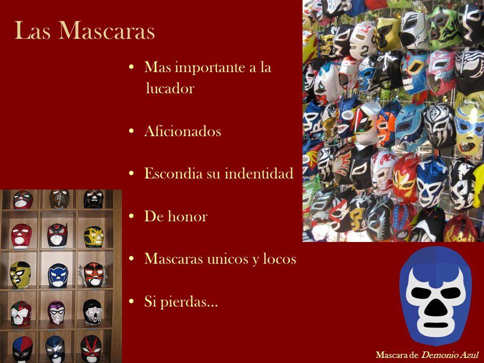 Las Mascaras Mas importante a la lucador Aficionados