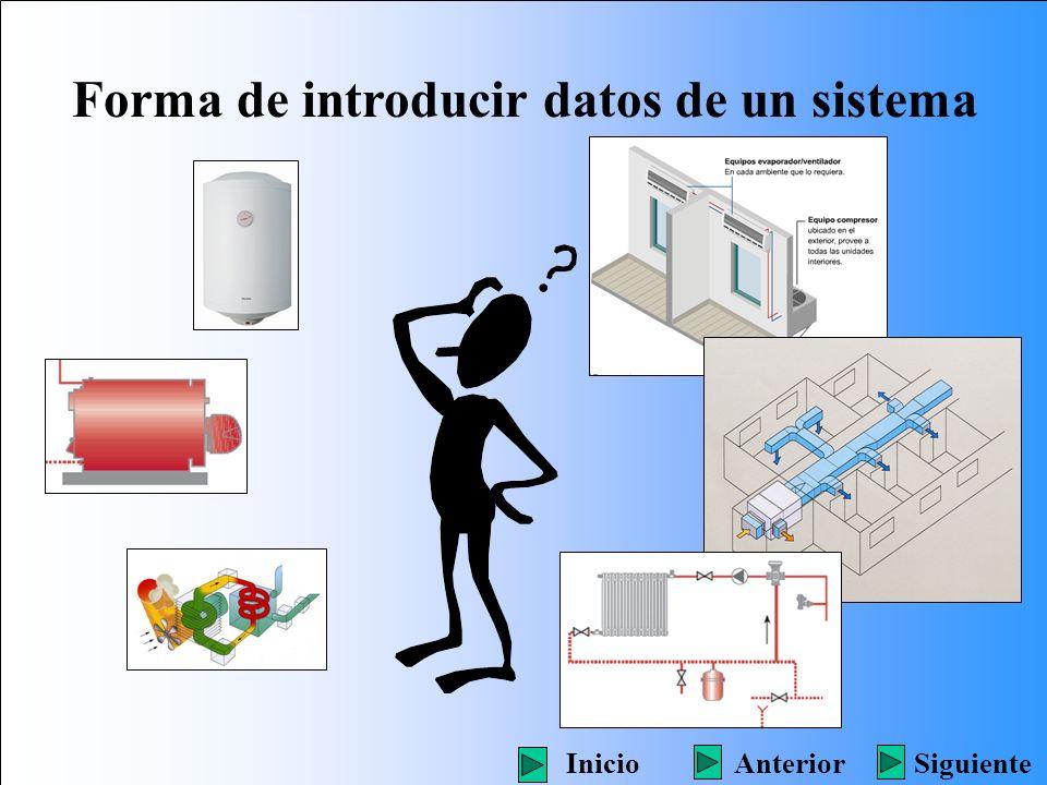 Forma de introducir datos de un sistema