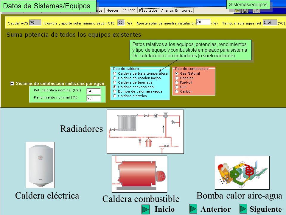 Bienvenido a la demostraci n del programa de calificaci n for Calefaccion bomba de calor radiadores
