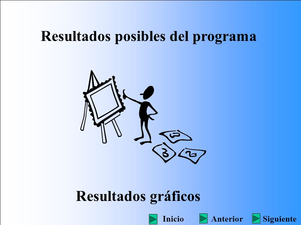Resultados posibles del programa