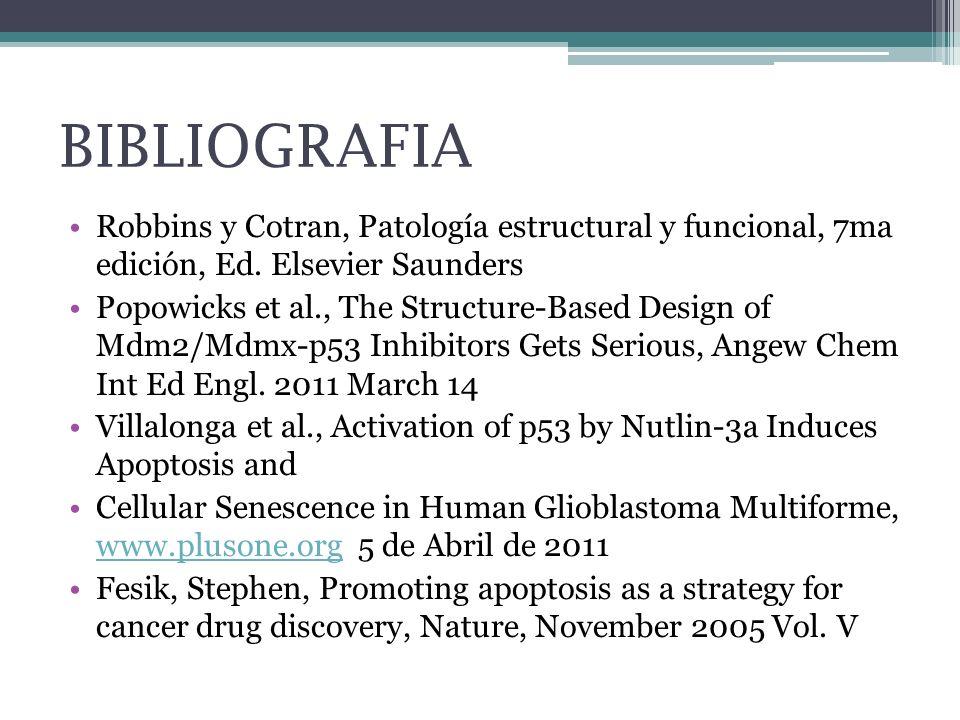 BIBLIOGRAFIA Robbins y Cotran, Patología estructural y funcional, 7ma edición, Ed. Elsevier Saunders.