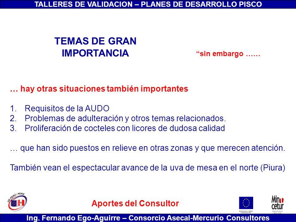 TEMAS DE GRAN IMPORTANCIA
