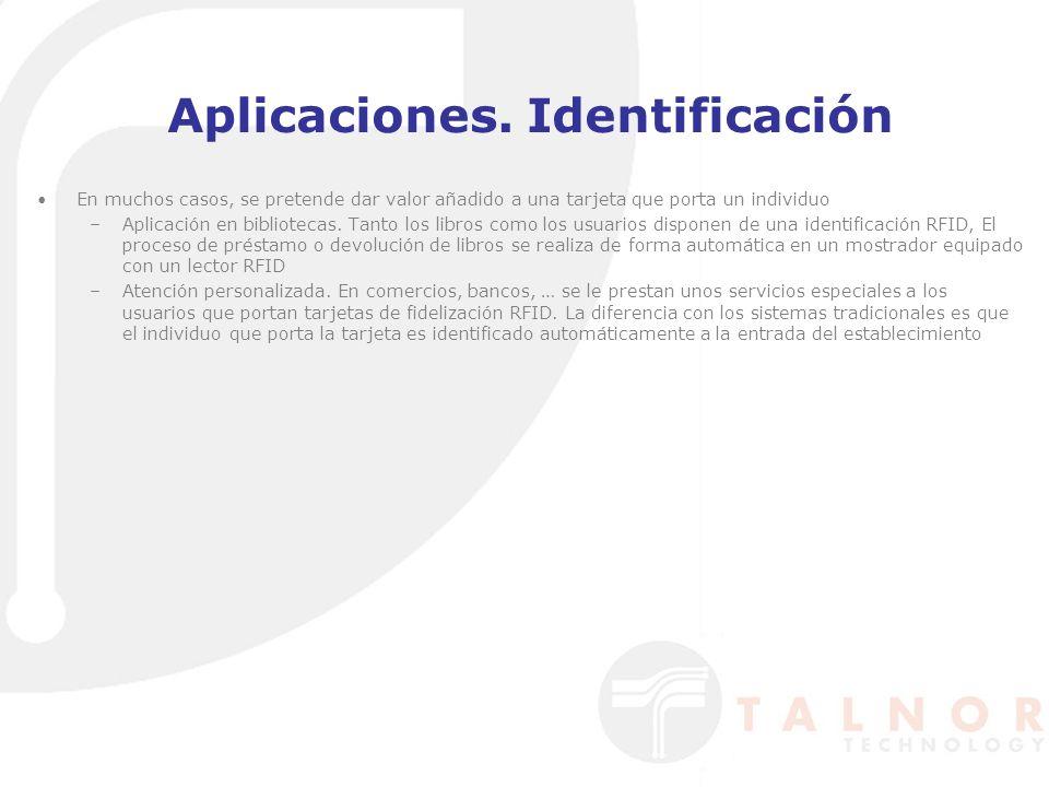 Aplicaciones. Identificación