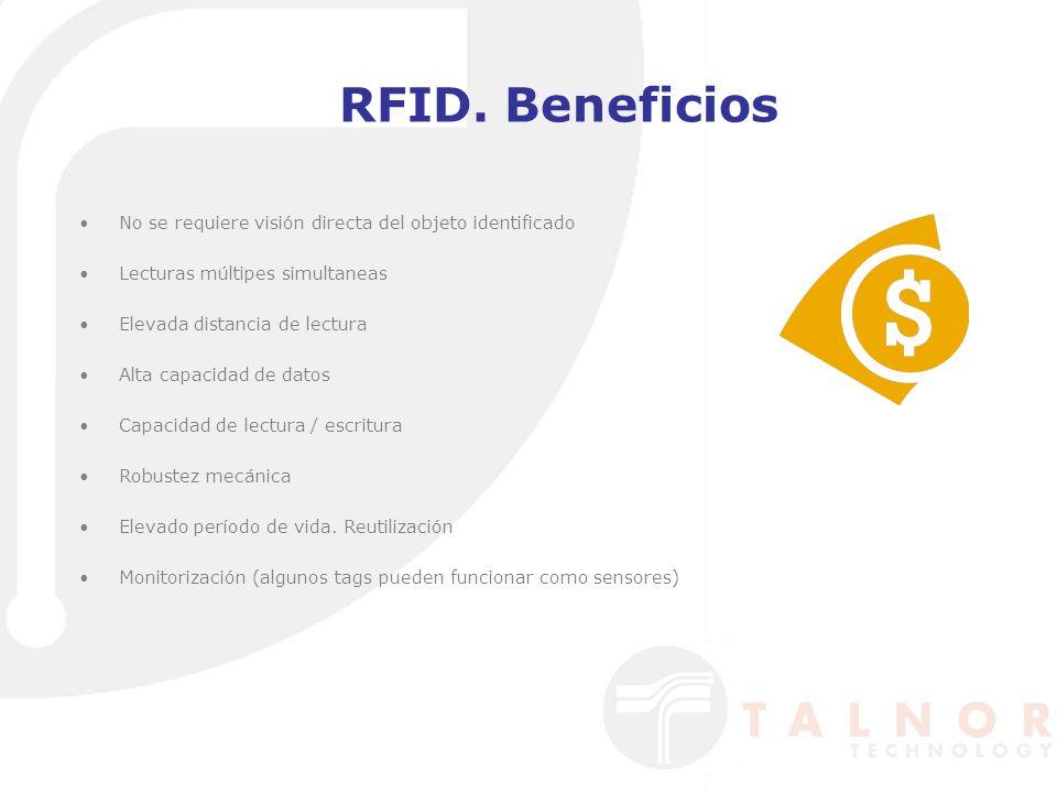 RFID. Beneficios No se requiere visión directa del objeto identificado