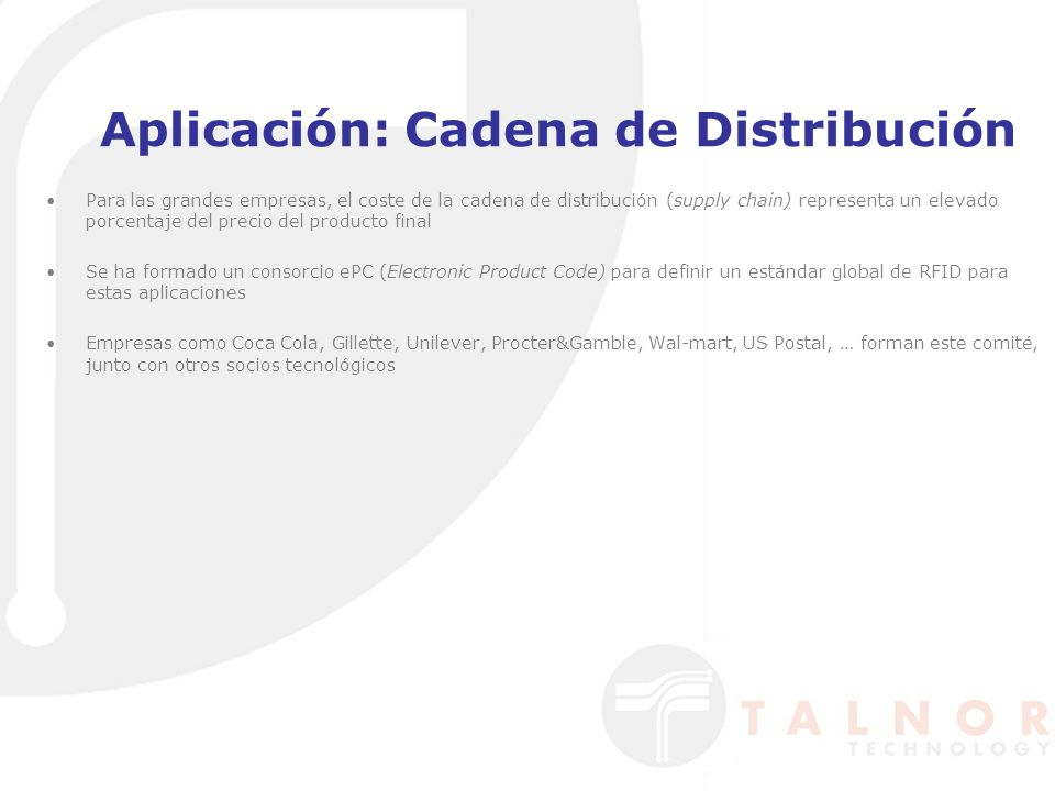 Aplicación: Cadena de Distribución