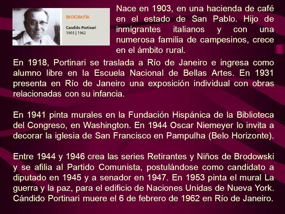 Nace en 1903, en una hacienda de café en el estado de San Pablo