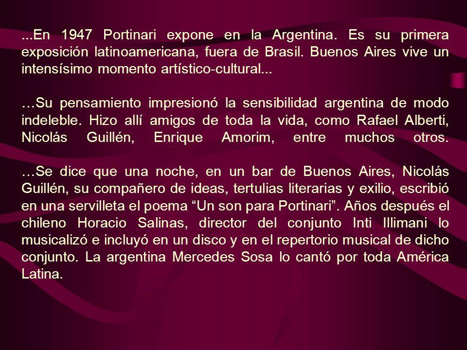 En 1947 Portinari expone en la Argentina