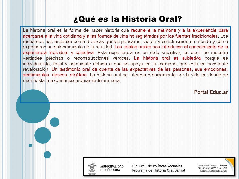 ¿Qué es la Historia Oral