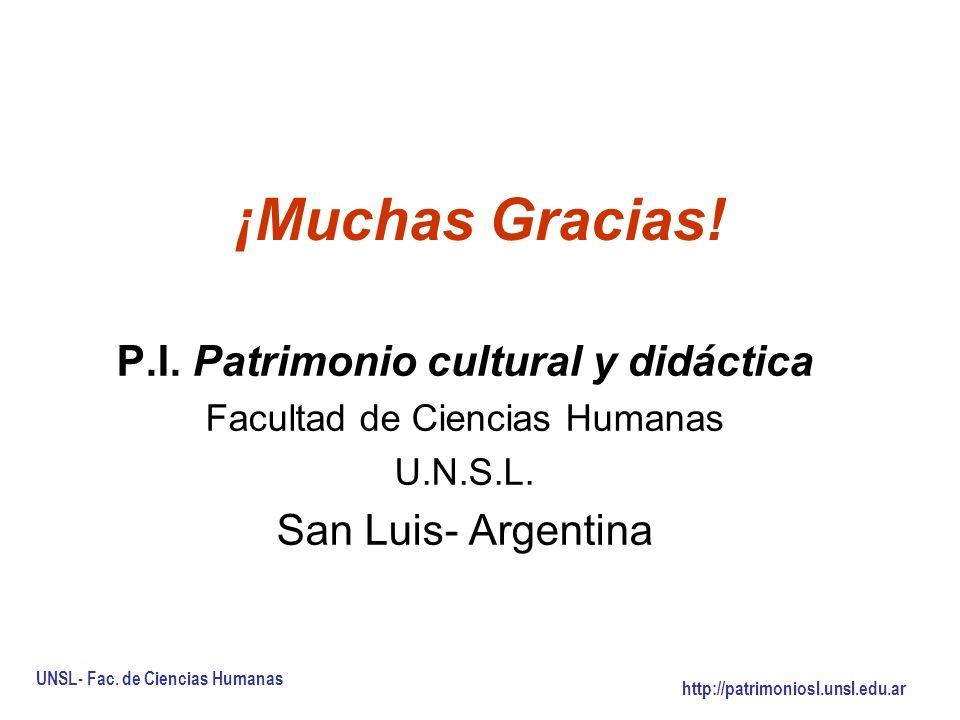 P.I. Patrimonio cultural y didáctica