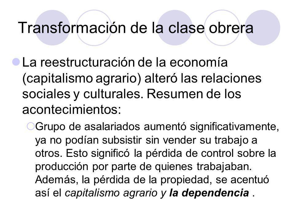 Transformación de la clase obrera