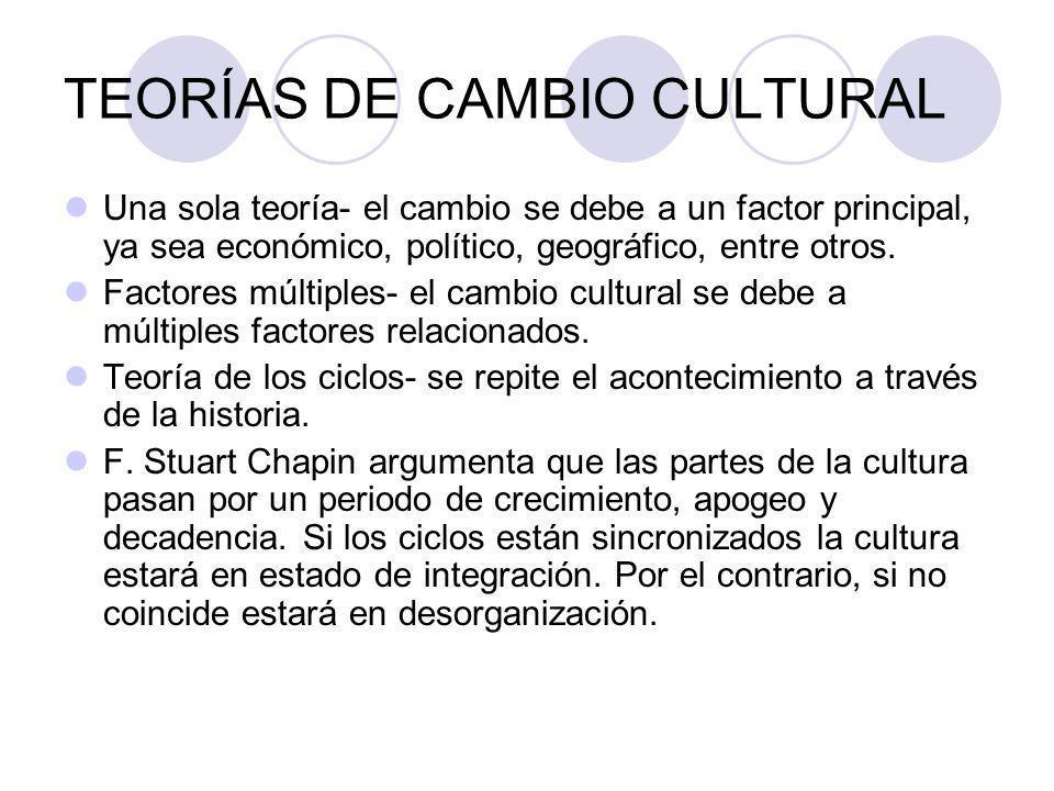 TEORÍAS DE CAMBIO CULTURAL