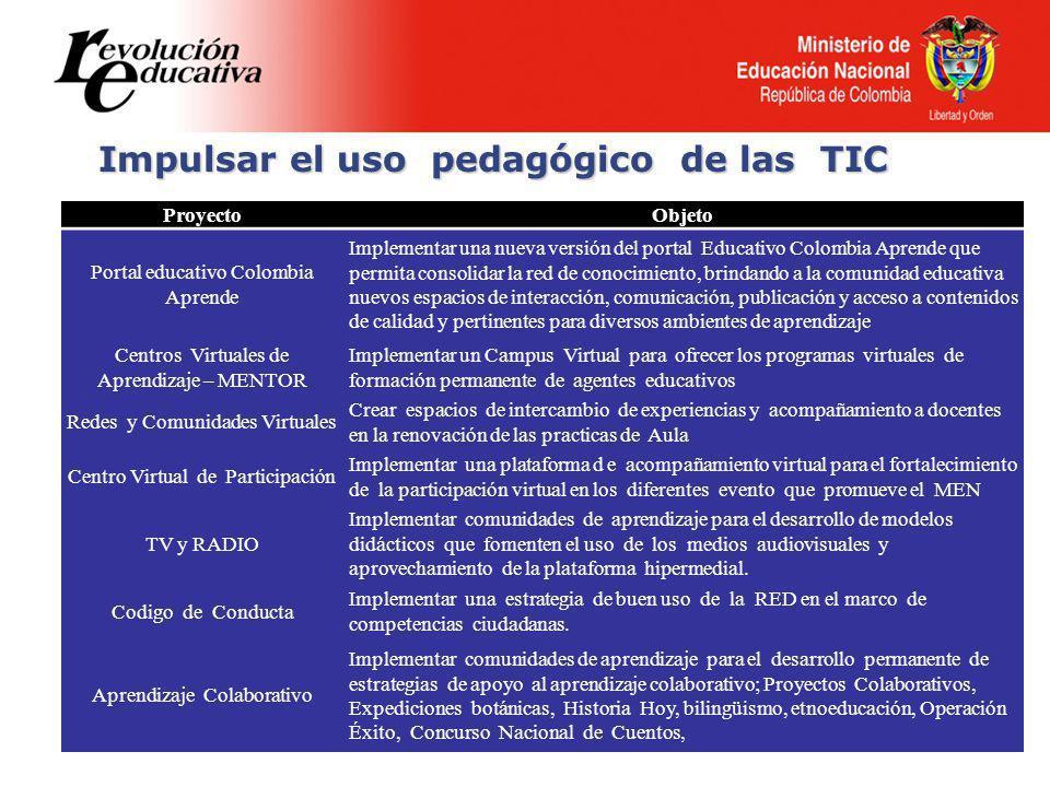 Impulsar el uso pedagógico de las TIC