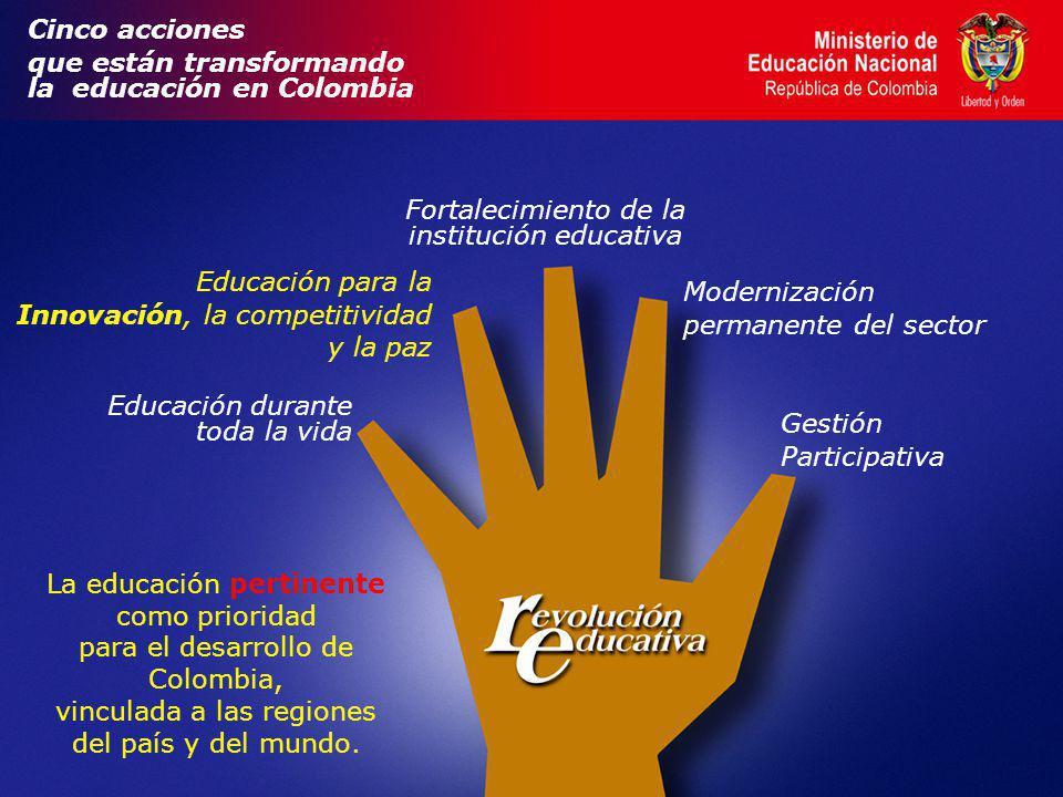 que están transformando la educación en Colombia