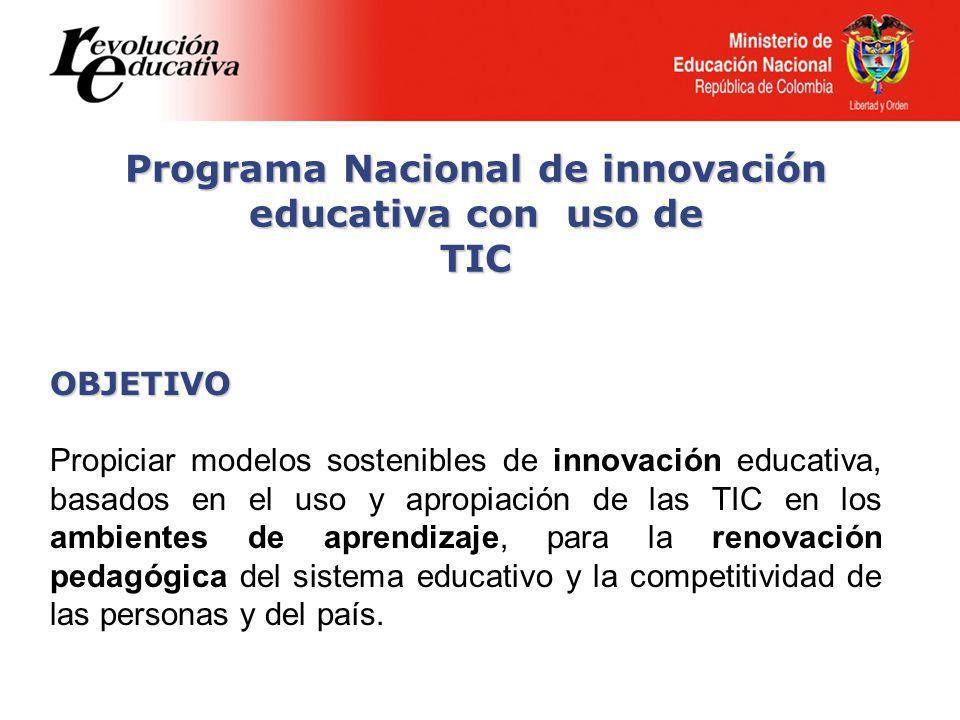 Programa Nacional de innovación educativa con uso de