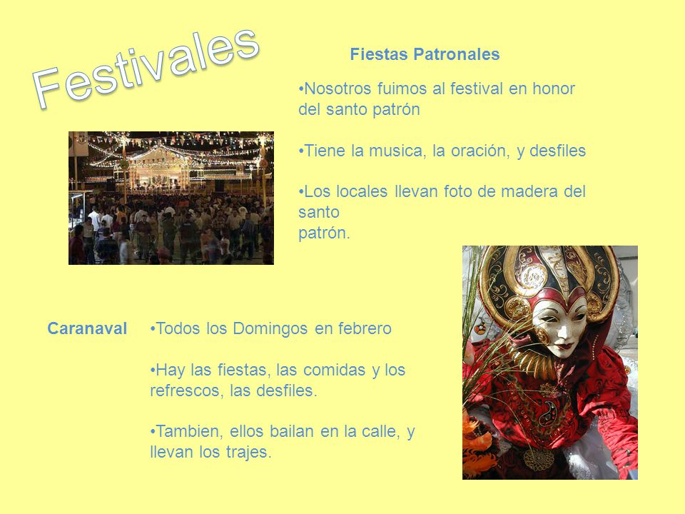 Festivales Fiestas Patronales