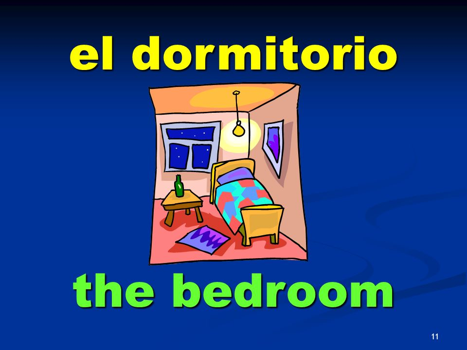 el dormitorio the bedroom