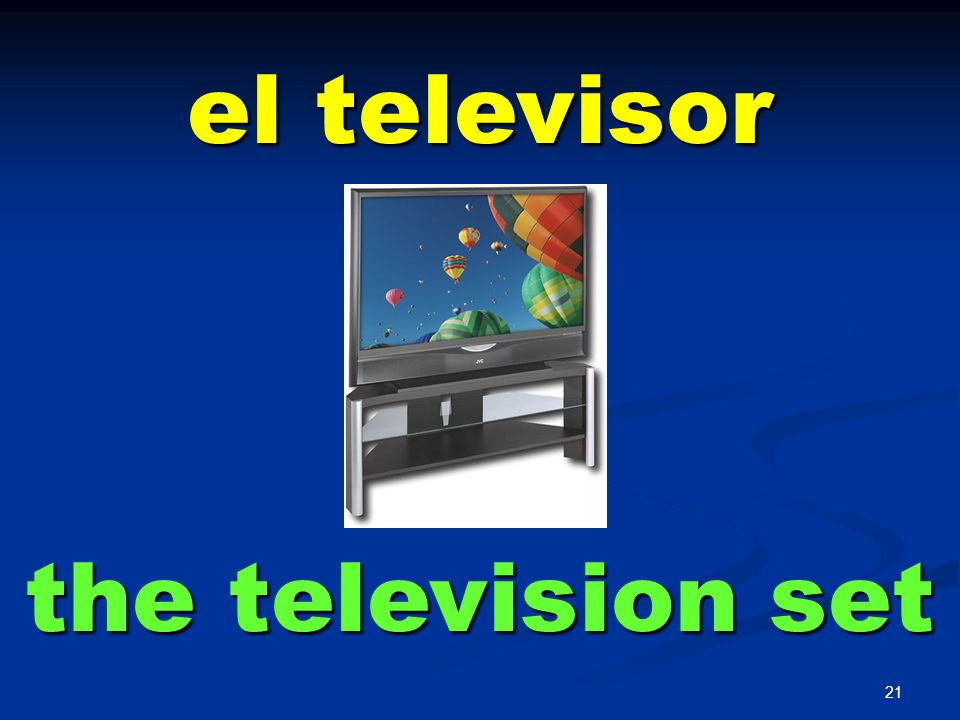 el televisor the television set