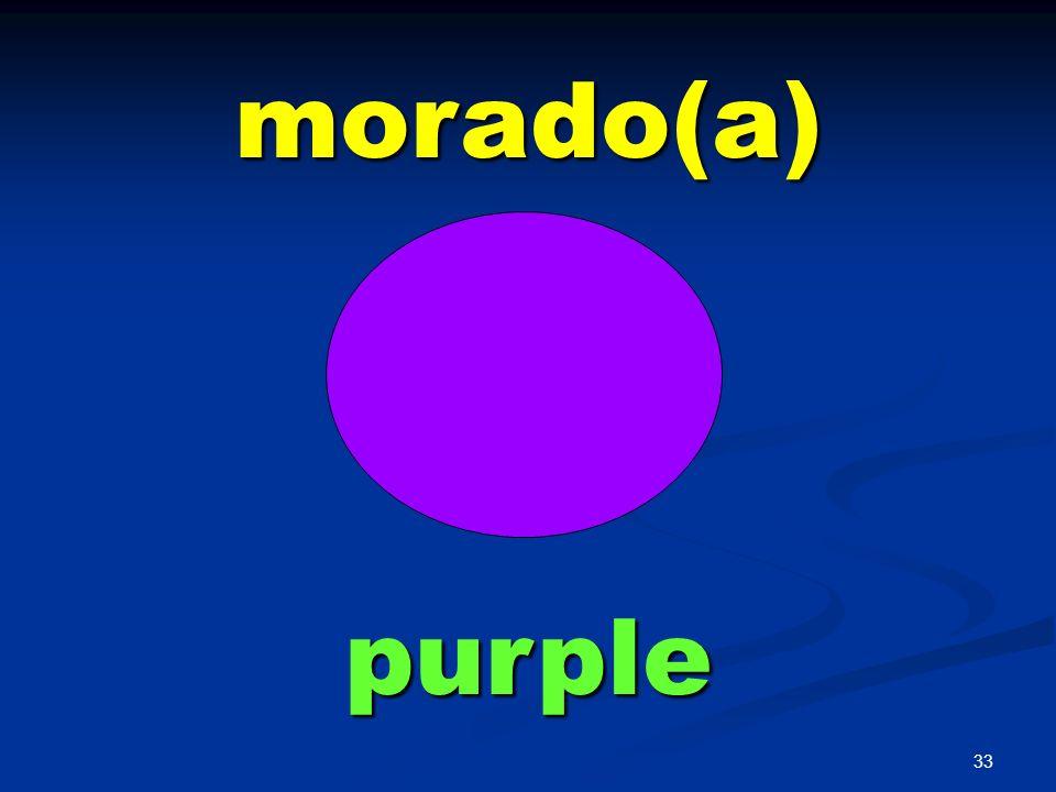 morado(a) purple