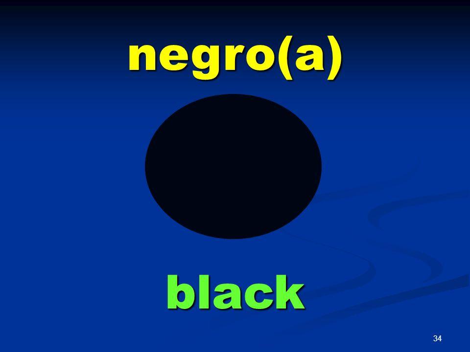 negro(a) black