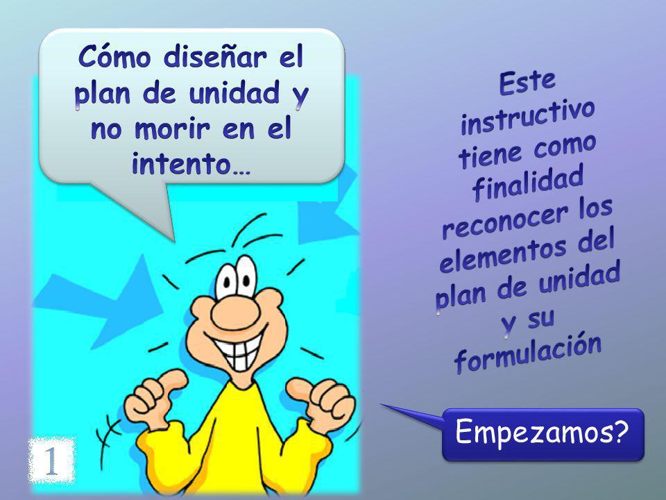 Cómo diseñar el plan de unidad y no morir en el intento…