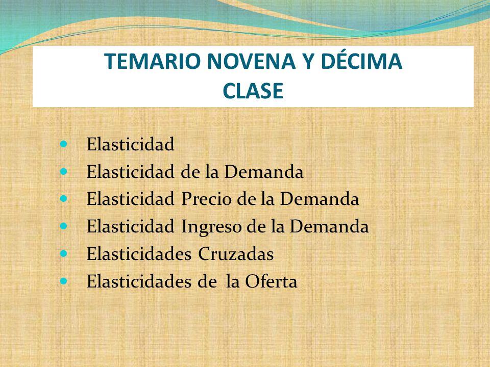 TEMARIO NOVENA Y DÉCIMA