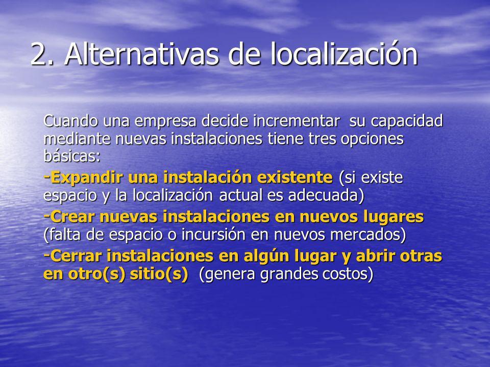 2. Alternativas de localización
