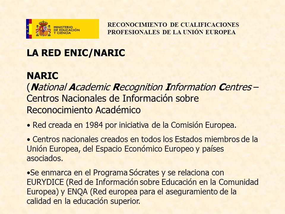 LA RED ENIC/NARIC NARIC