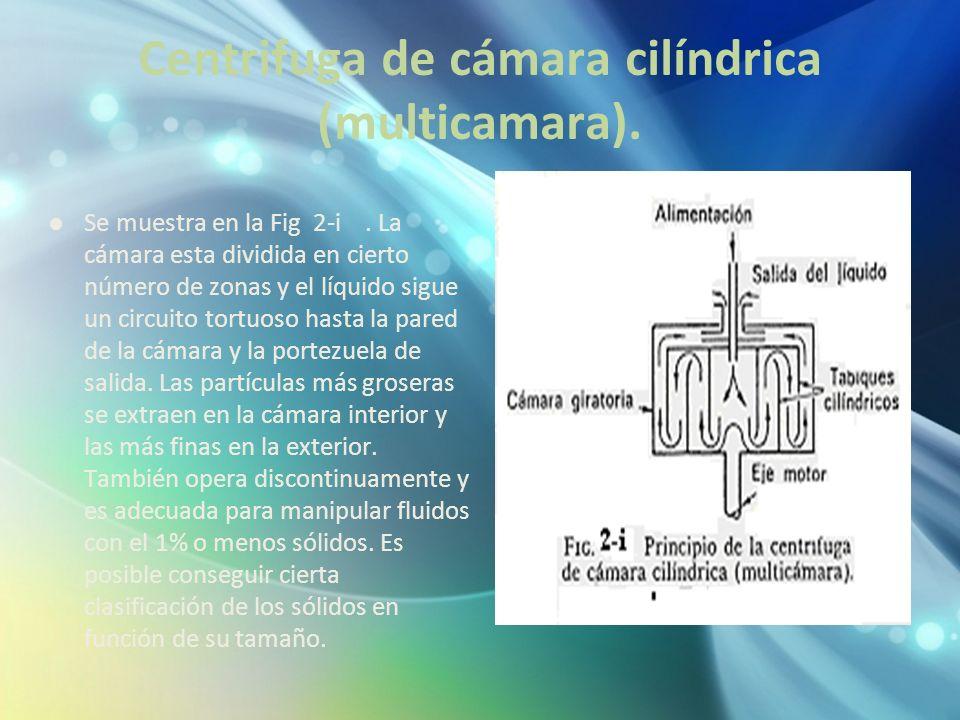 Centrifuga de cámara cilíndrica (multicamara).
