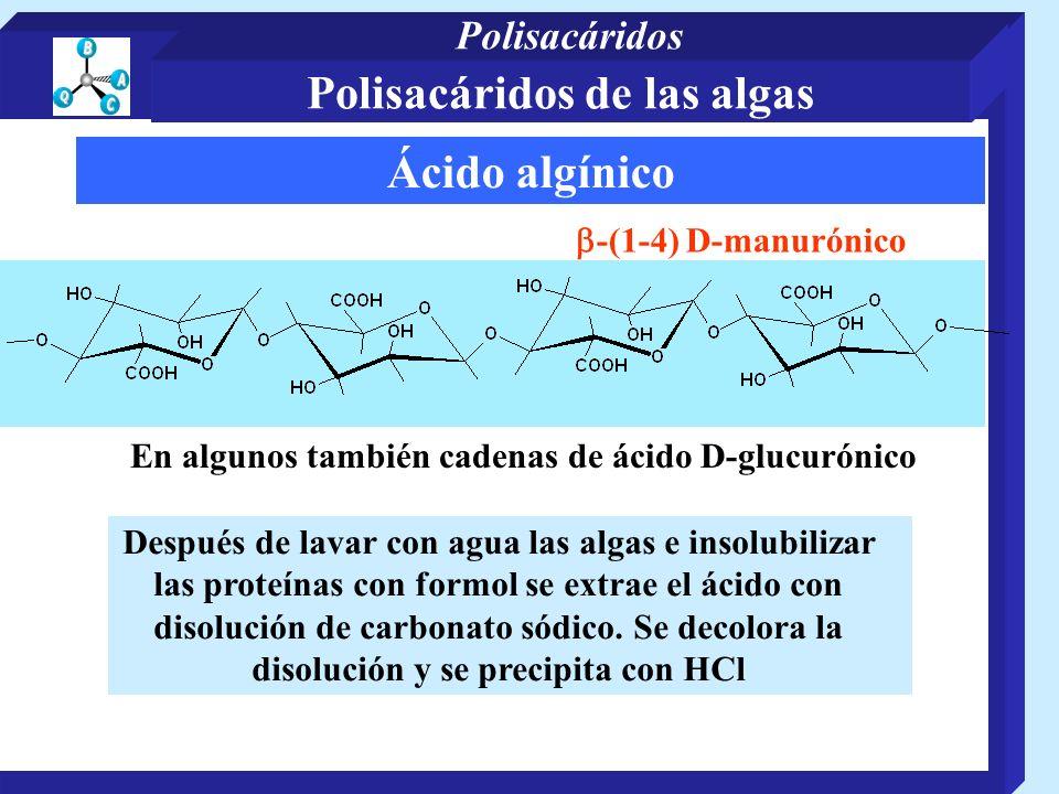 Polisacáridos de las algas Ácido algínico