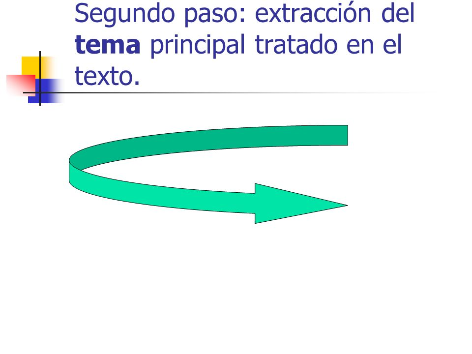 Segundo paso: extracción del tema principal tratado en el texto.