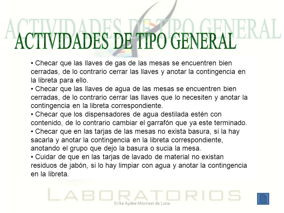 ACTIVIDADES DE TIPO GENERAL
