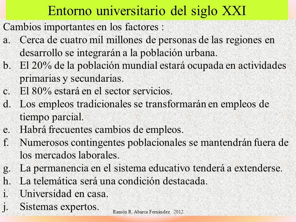 Entorno universitario del siglo XXI