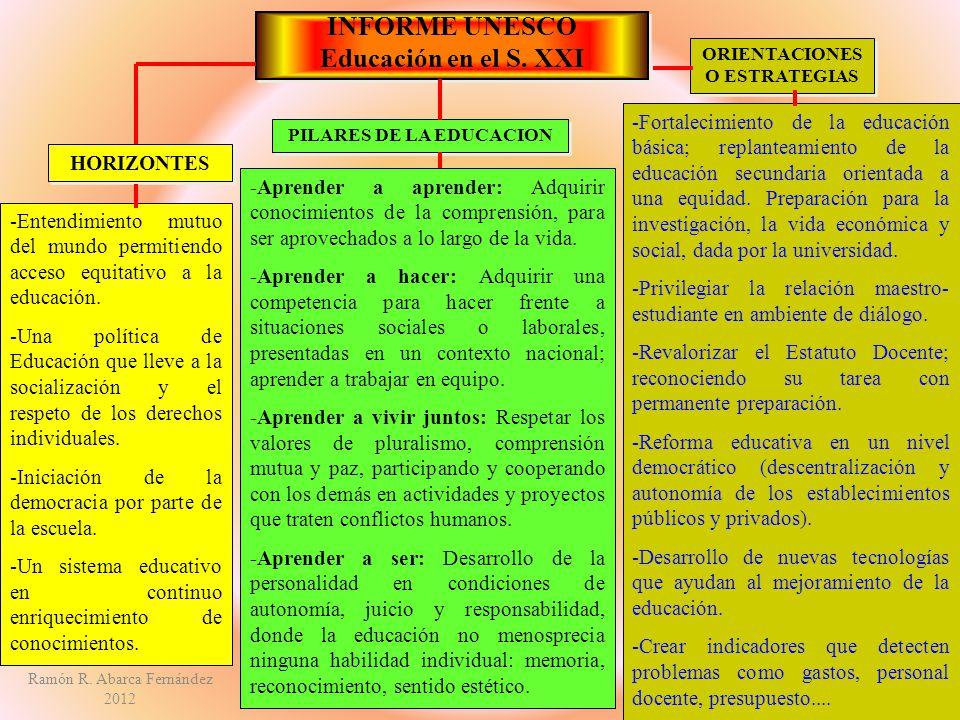 ORIENTACIONES O ESTRATEGIAS PILARES DE LA EDUCACION