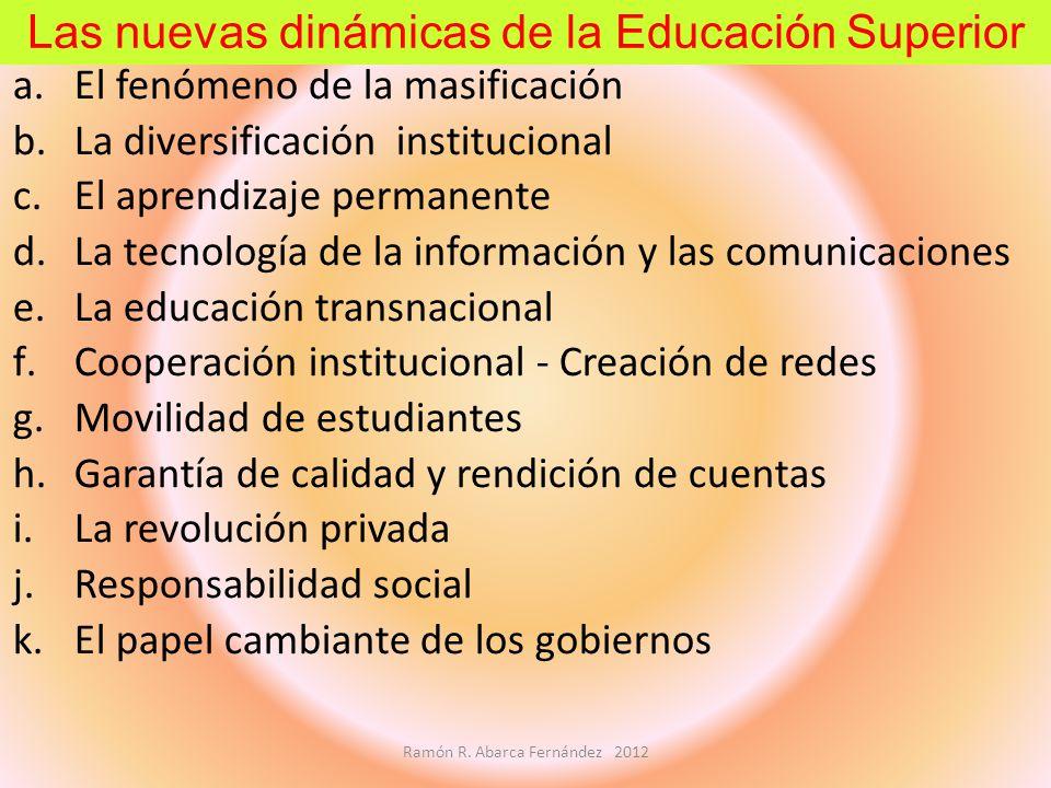 Las nuevas dinámicas de la Educación Superior