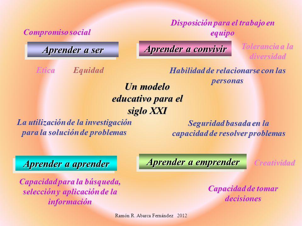 Un modelo educativo para el siglo XXI Aprender a aprender