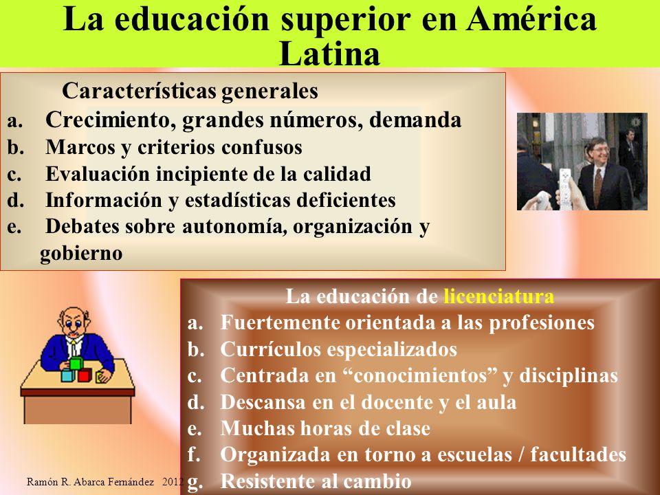 La educación superior en América Latina