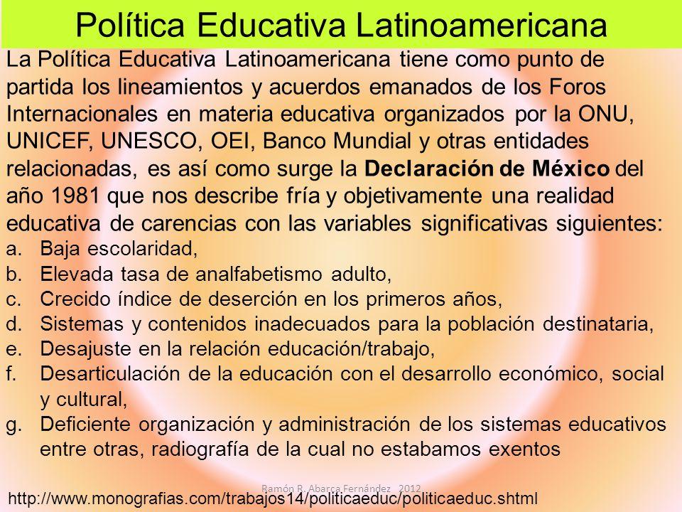 Política Educativa Latinoamericana