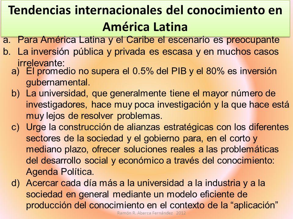 Tendencias internacionales del conocimiento en América Latina