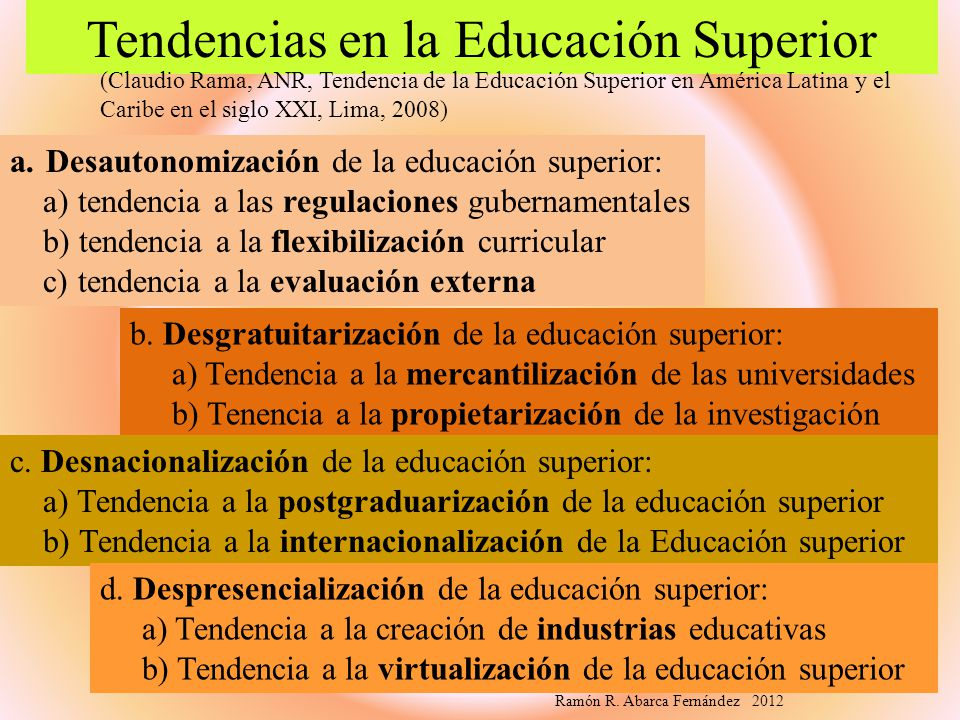Tendencias en la Educación Superior