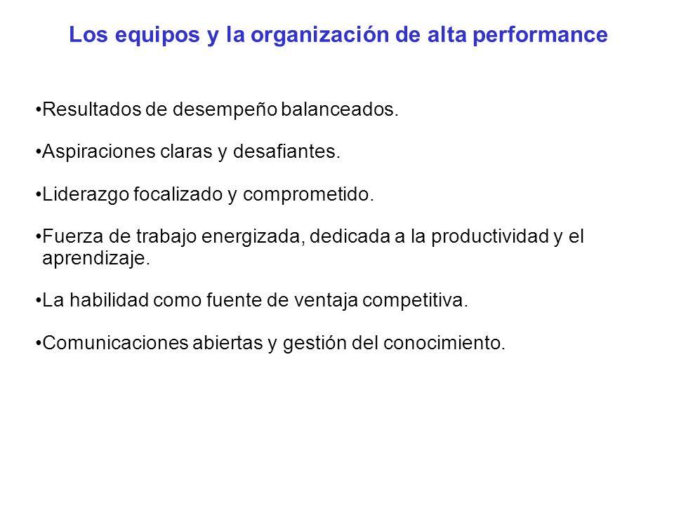 Los equipos y la organización de alta performance