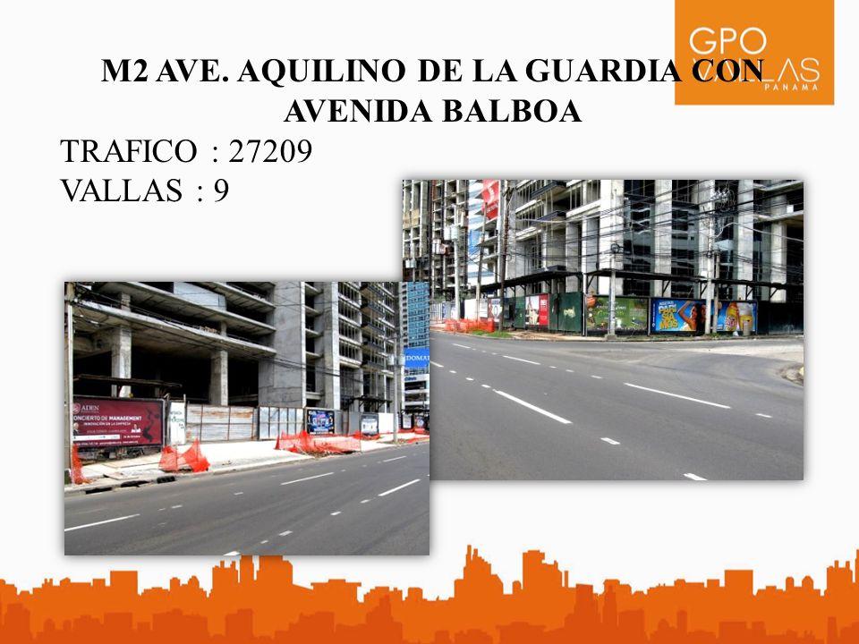 M2 AVE. AQUILINO DE LA GUARDIA CON AVENIDA BALBOA