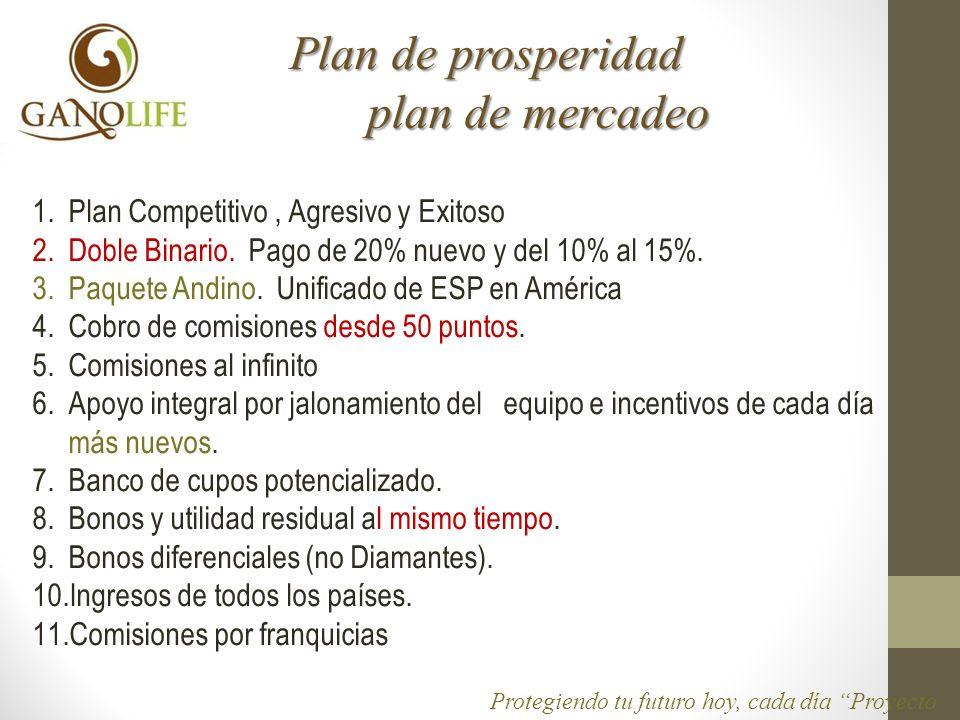 Plan de prosperidad plan de mercadeo