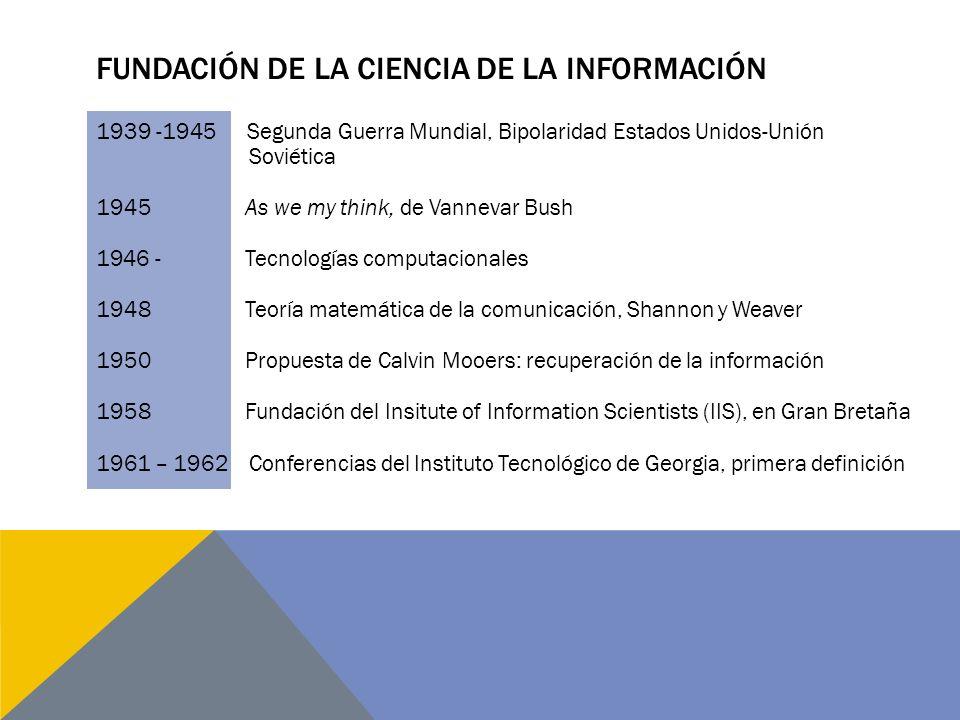 Fundación de la ciencia de la información