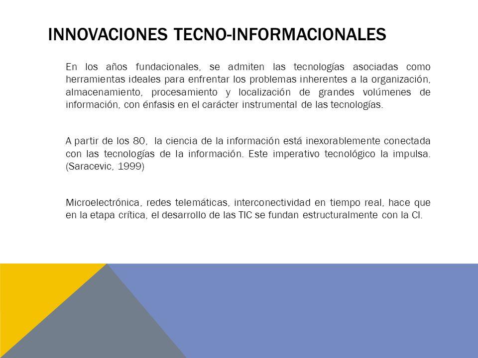Innovaciones tecno-informacionales