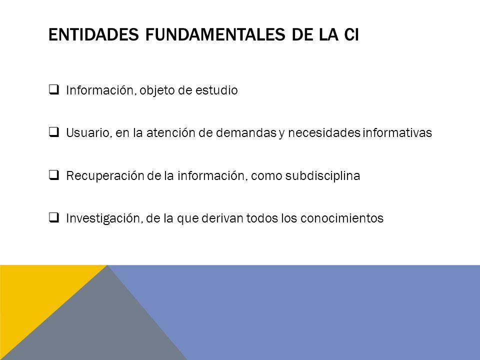 Entidades fundamentales de la CI