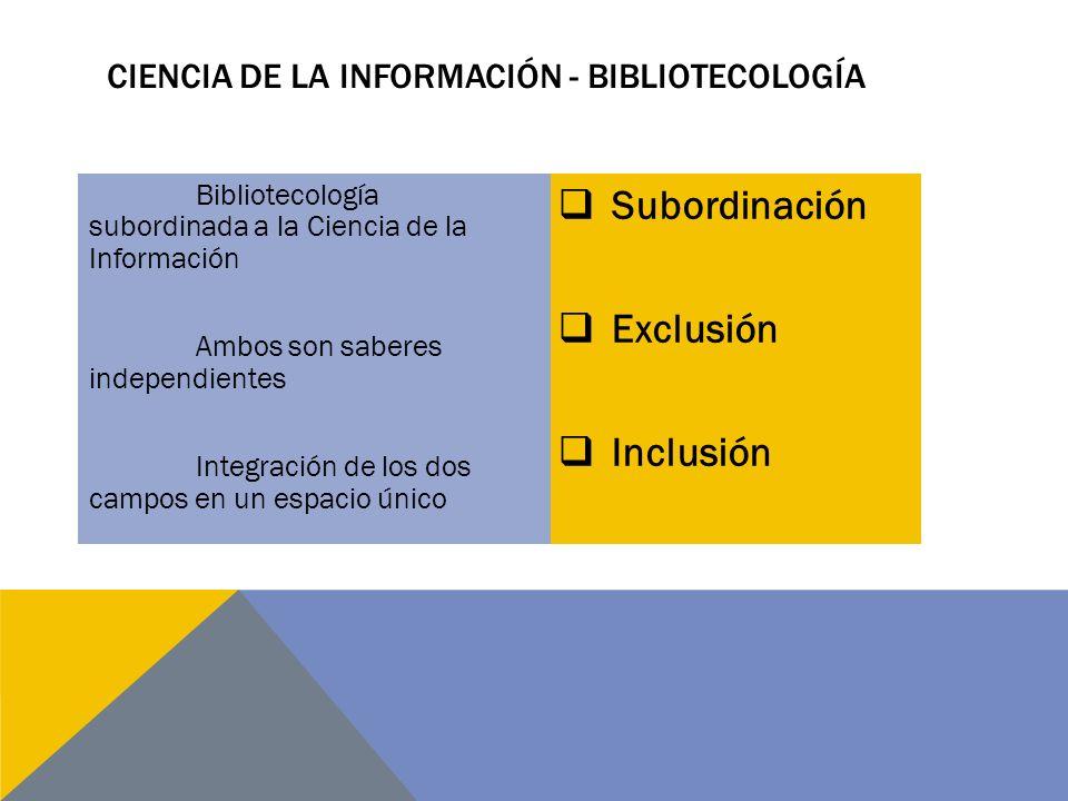 Ciencia de la información - Bibliotecología