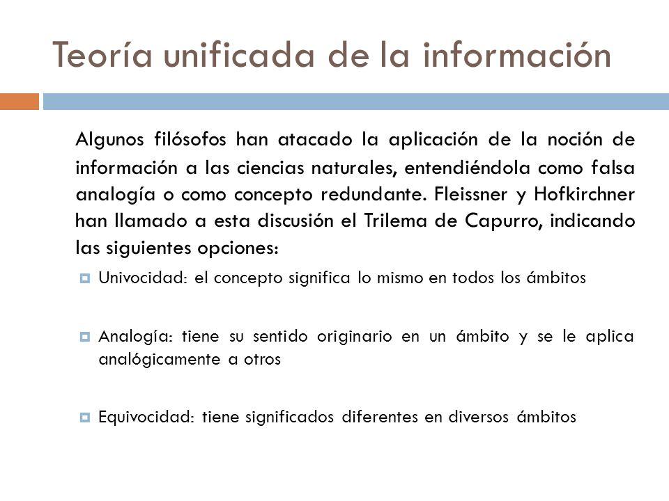 Teoría unificada de la información