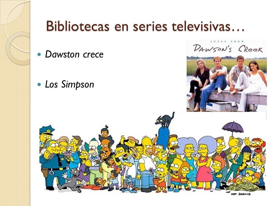 Bibliotecas en series televisivas…