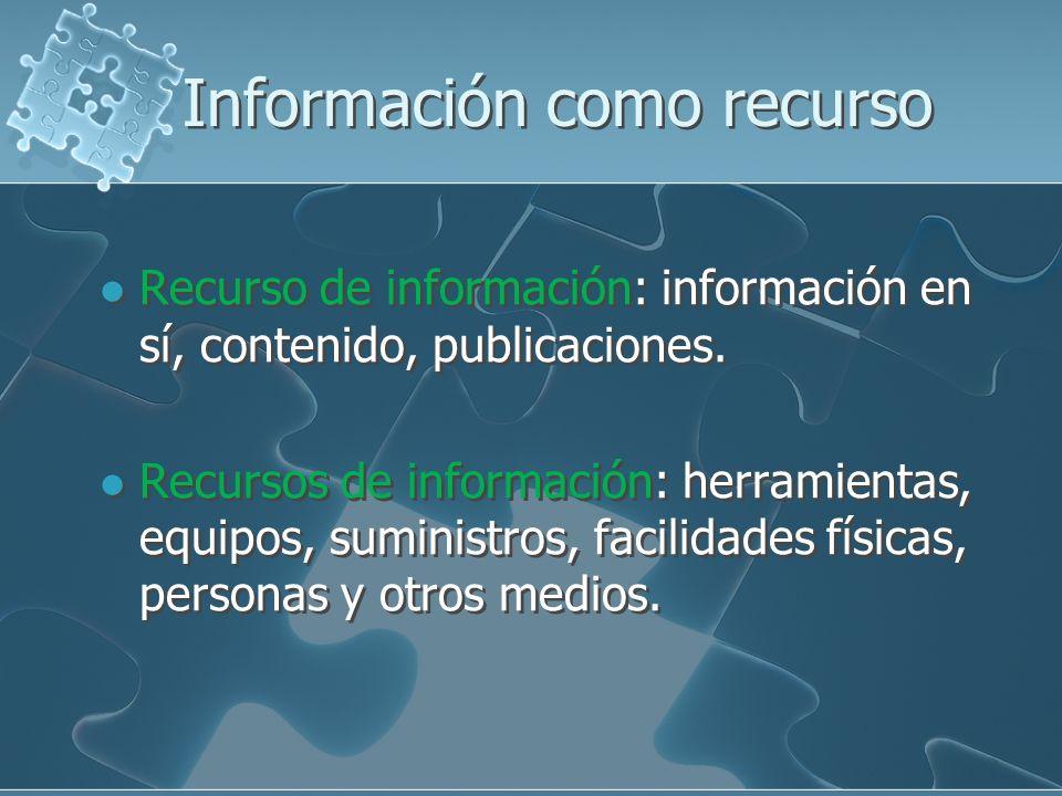 Información como recurso